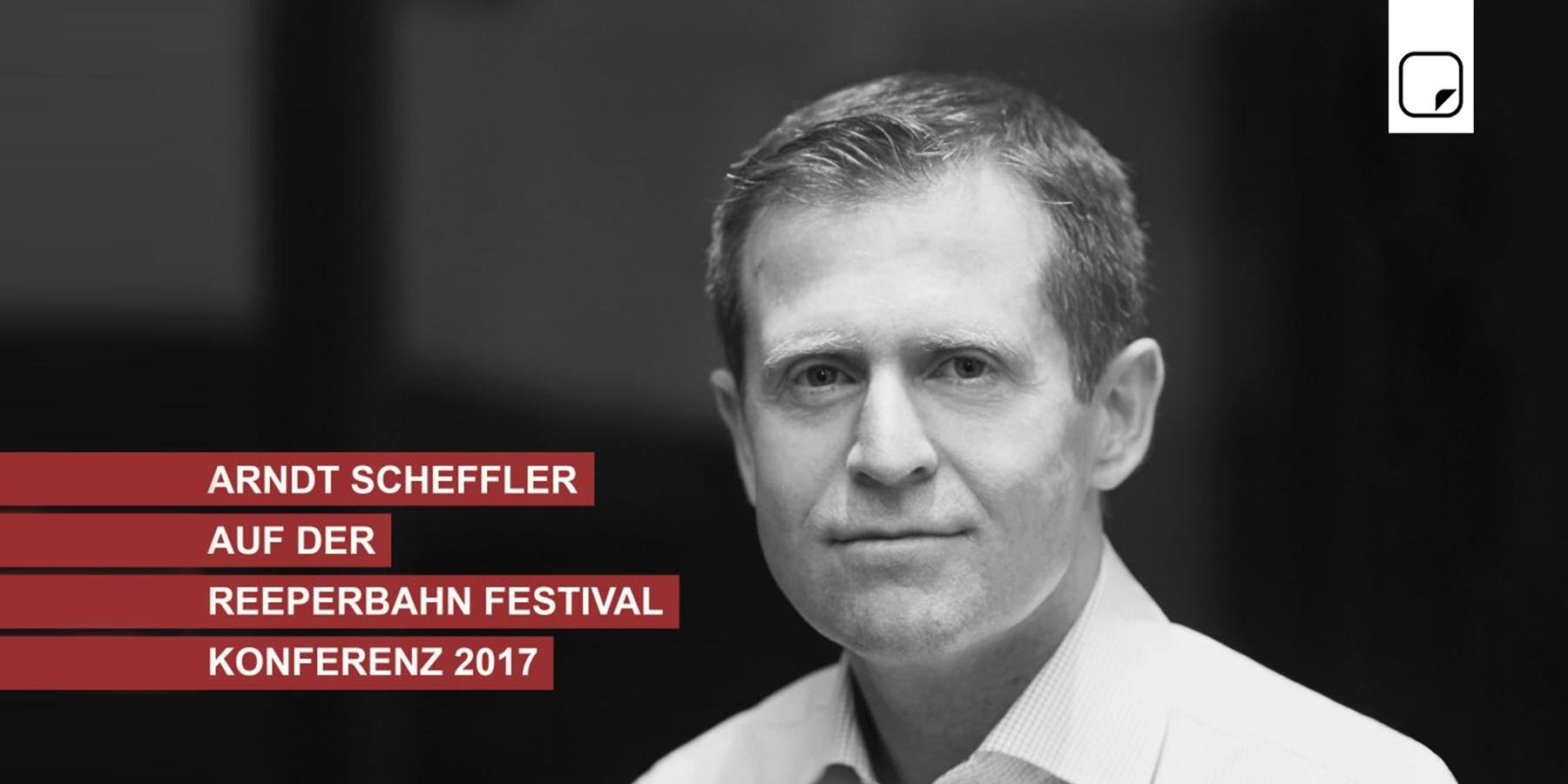 Arndt Scheffler auf der Reeperbahn Festival Konferenz 2017