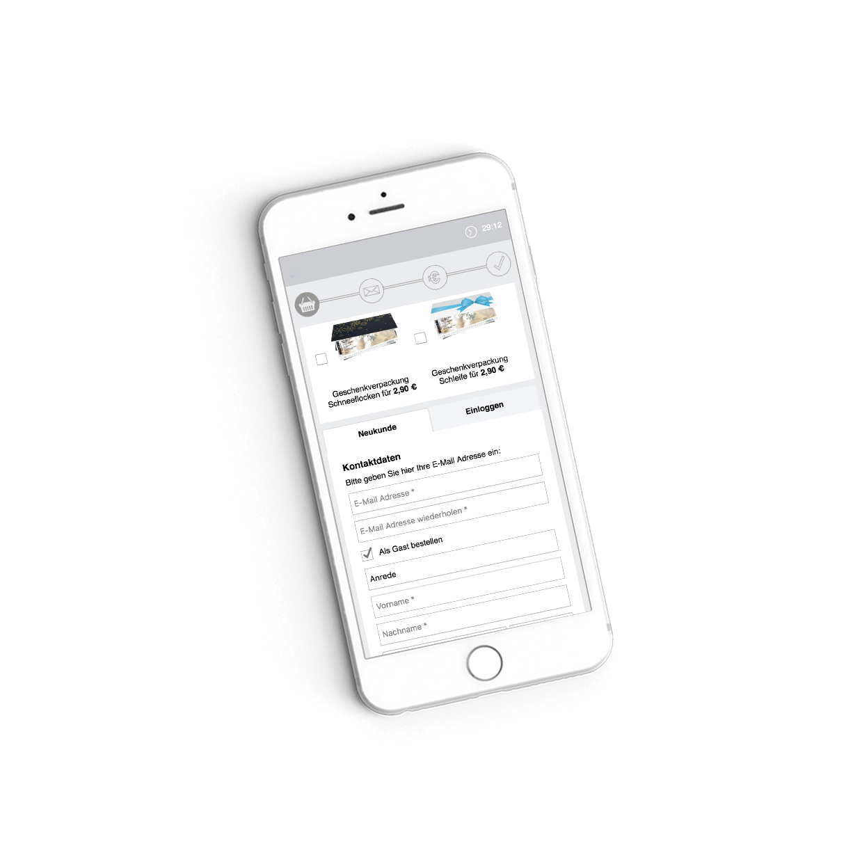 white label Ticketing & eCommerce iPhone