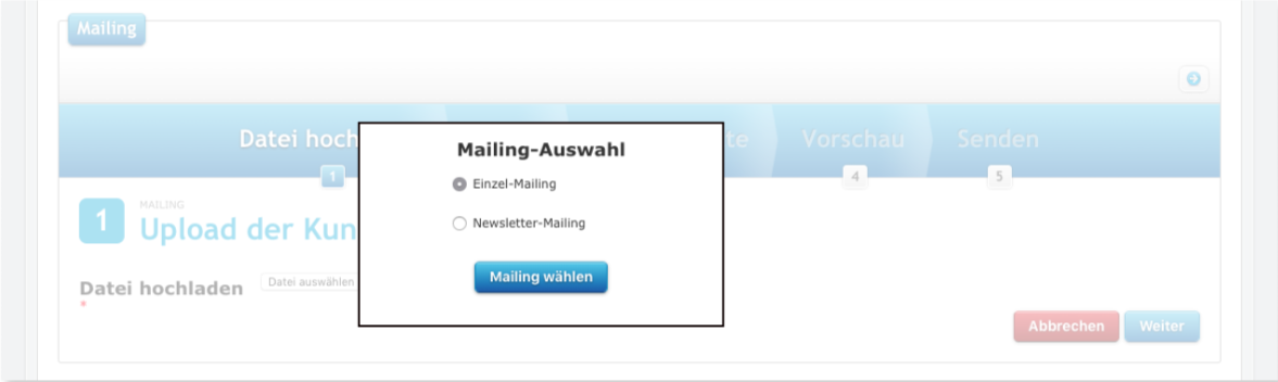 wleC Mailing Auswahl