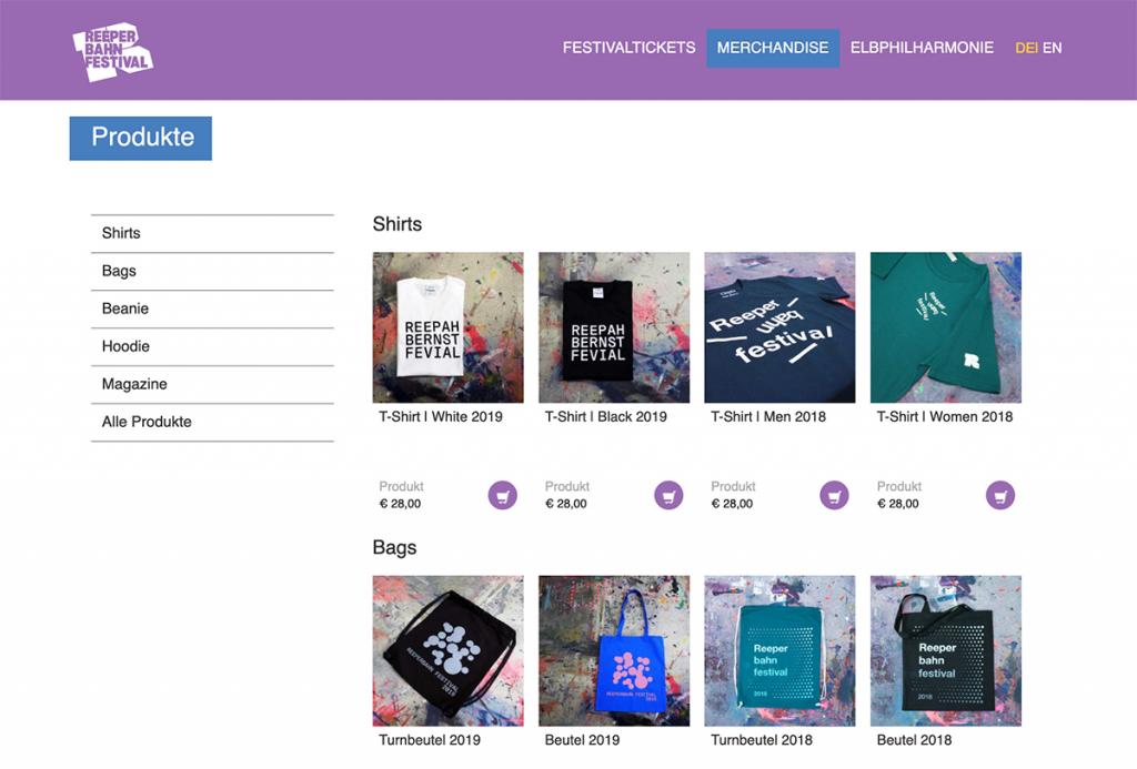 Reeperbahn Festival: Personalisierter wleC-Shop