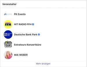 Facebook Veranstaltung: Gastgeber