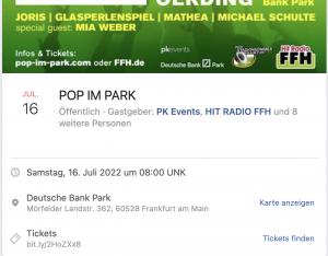 Facebook Veranstaltung: Titel